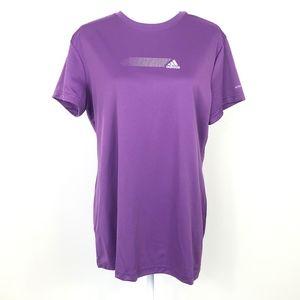 Adidas XL Comfort T- Shirt Top Purple Sretch